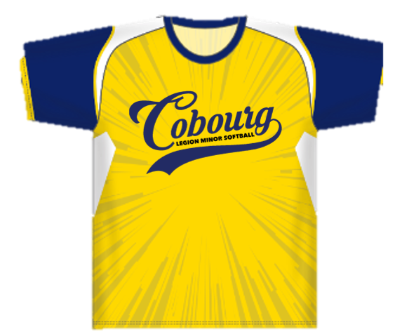 Image of the Cobourg Legion Minor Softball Organization team jersey