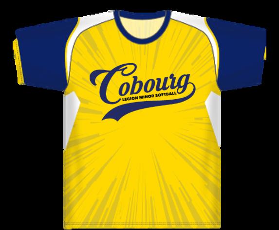 Image of the Cobourg Legion Minor Softball Organization team jersey